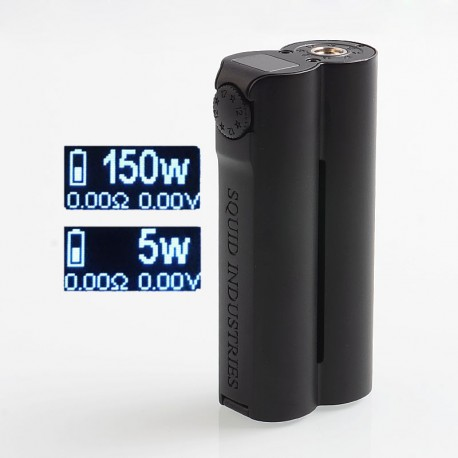 Authentic Squid Industries Double Barrel V3 3.0 150W VW Variable Wattage Box Mod - Black Obisdian, 2 x 18650