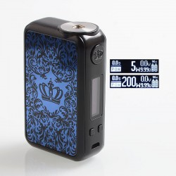 Authentic Uwell Crown 4 IV 200W TC VW Variable Wattage Box Mod - Blue, 5~200W, 2 x 18650