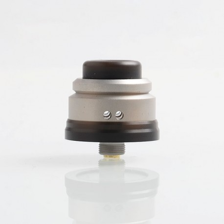 Authentic Gas Mods Nova RDA Rebuildable Dripping Atomizer w/ BF Pin - Silver, Stainless Steel, 22mm Diameter