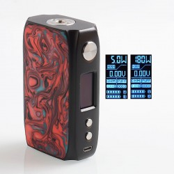 Authentic IJOY Shogun Univ 180W TC VW Variable Wattage Box Mod - Hellfire, 1~180W, 2 x 18650
