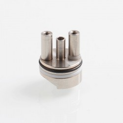 Coppervape Replacement 2.4mm Airhole Deck for Ka V6 Style RTA - Silver, 316 Stainless Steel + Teflon
