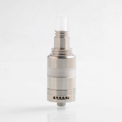 Coppervape Ka V6 Nano Tank Style MTL RTA Rebuildable Tank Atomizer - Silver, 316 Stainless Steel, 3.3ml, 22mm Diameter