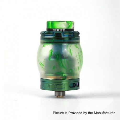 Authentic Advken Manta RTA Rebuildable Tank Atomizer Resin Edition - Green, Resin + Stainless Steel, 4.5ml, 24mm Diameter