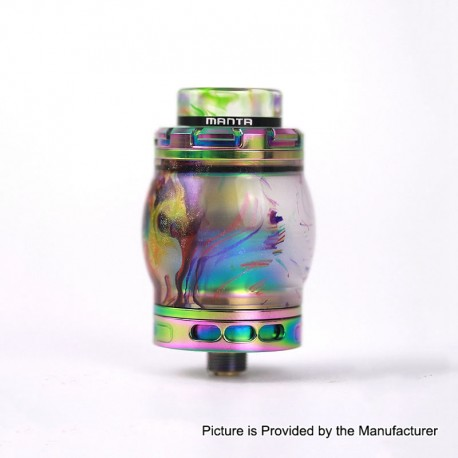 Authentic Advken Manta RTA Rebuildable Tank Atomizer Resin Edition - Rainbow, Resin + Stainless Steel, 4.5ml, 24mm Diameter