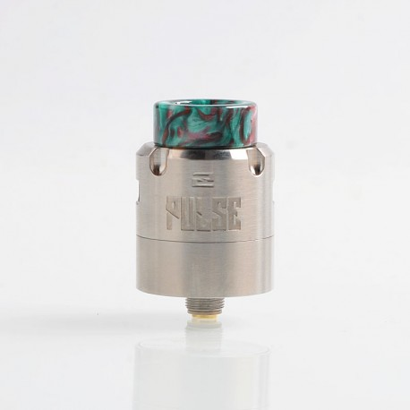 Authentic Vandy Vape Pulse V2 RDA Rebuildable Dripping Atomizer w/ BF Pin - Silver, 24mm Diameter