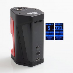 Authentic Vandy Vape Pulse Dual 220W TC VW Squonk Box Mod - Black Red, 5~220W, 7ml, 2 x 18650