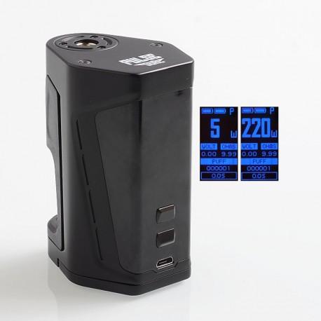 Authentic Vandy Vape Pulse Dual 220W TC VW Squonk Box Mod - Black, 5~220W, 7ml, 2 x 18650