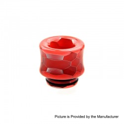 810 Replacement Drip Tip for TFV8 / TFV12 Tank / Goon / Kennedy / Reload RDA - Red, Resin, 18mm, Glow-in-the-Dark
