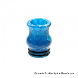 810 Replacement Drip Tip for TFV8 / TFV12 Tank / Goon / Kennedy / Reload RDA - Blue, Resin, 20mm, Glow-in-the-Dark