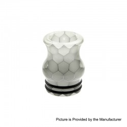 810 Replacement Drip Tip for TFV8 / TFV12 Tank / Goon / Kennedy / Reload RDA - White, Resin, 20mm, Glow-in-the-Dark