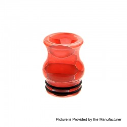 810 Replacement Drip Tip for TFV8 / TFV12 Tank / Goon / Kennedy / Reload RDA - Red, Resin, 20mm, Glow-in-the-Dark