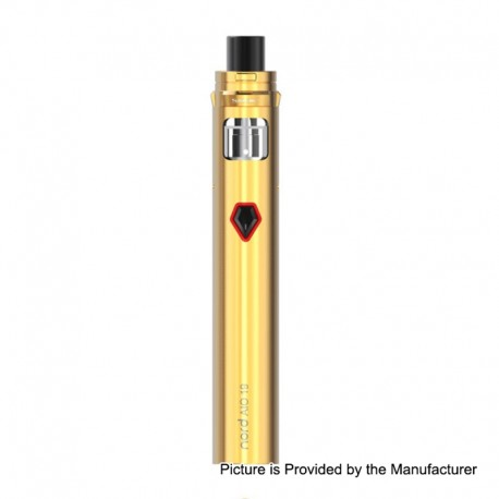 Authentic SMOKTech SMOK Nord AIO 19 25W 1300mAh All in One Starter Kit Standard Edition - Gold, 2ml, 0.6 Ohm / 1.4 Ohm