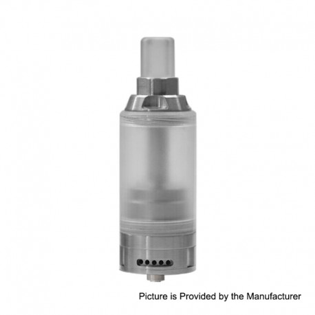 KA V8 Style RTA Rebuildable Tank Atomizer - Silver, 316 Stainless Steel, 5ml, 22mm Diameter