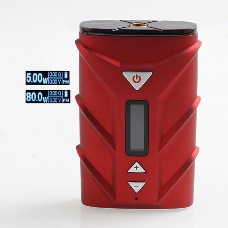 Authentic Ehpro SPD A8 80W 4000mAh TC VW Variable Wattage Box Mod - Red, PC + Zinc Alloy, 5~80W