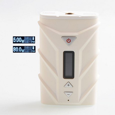 Authentic Ehpro SPD A8 80W 4000mAh TC VW Variable Wattage Box Mod - White, PC + Zinc Alloy, 5~80W