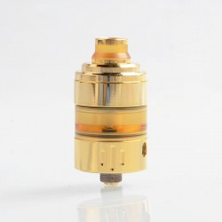 Hussar Project X Style RTA Rebuildable Tank Atomizer - Gold, 316 Stainless Steel + PEI, 2ml, 22.5mm Diameter