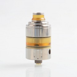 Hussar Project X Style RTA Rebuildable Tank Atomizer - Silver, 316 Stainless Steel + PEI, 2ml, 22.5mm Diameter