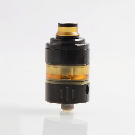 Hussar Project X Style RTA Rebuildable Tank Atomizer - Black, 316 Stainless Steel + PEI, 2ml, 22.5mm Diameter