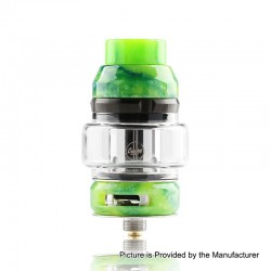Authentic CoilART LUX Sub Ohm Tank Clearomizer - Green, Resin + Stainless Steel, 5.5ml, 0.15 Ohm, 25mm Diameter