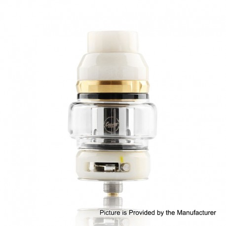 Authentic CoilART LUX Sub Ohm Tank Clearomizer - White, Resin + Stainless Steel, 5.5ml, 0.15 Ohm, 25mm Diameter