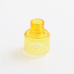 YFTK Replacement 510 Drip Tip + Top Cap for Haku Venna Style RDA Rebuildable Dripping Atomizer - Yellow, PC