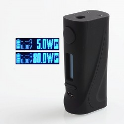 Authentic Vapor Storm ECO Pro 80W TC VW Variable Wattage Box Mod - Black, ABS, 5~80W, 1 x 18650