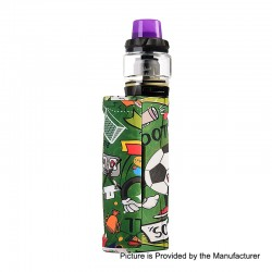 Authentic Vapor Storm Puma Baby 80W TC VW Box Mod + Hawk Tank Kit - Football, 5~80W, 1 x 18650, 6ml, 0.2 Ohm