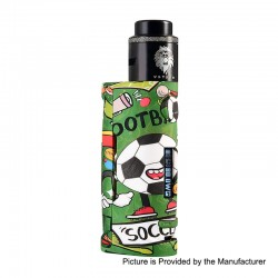 Authentic Vapor Storm Puma Baby 80W TC VW Box Mod + Lion RDA Kit - Football, 5~80W, 1 x 18650, 24mm Diameter
