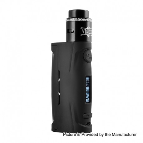 Authentic Vapor Storm Puma Baby 80W TC VW Box Mod + Lion RDA Kit - Black, 5~80W, 1 x 18650, 24mm Diameter
