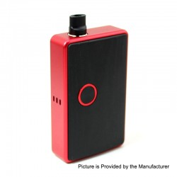 SXK BB Style 60W All-in-One Box Mod Kit w/ USB Port - Red, Aluminum Alloy, 1 x 18650, Evolv DNA 60