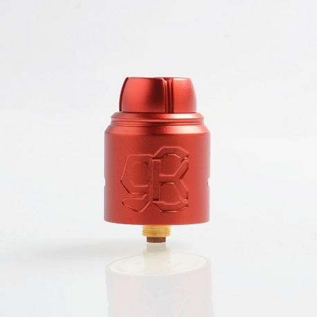 Authentic Lcovape 98K RDA Rebuildable Dripping Atomizer w/ BF Pin - Red, Aluminum + 316 Stainless Steel, 24.5mm Diameter