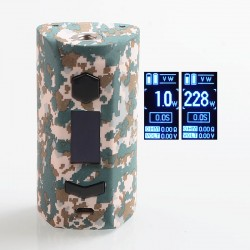 Authentic Rincoe Manto S 228W TC VW Variable Wattage Box Mod - Camo, PC, 1~228W, 2 x 18650