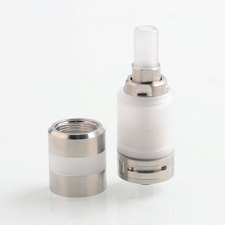 YFTK Ka V7 Style RTA Rebuildable Tank Atomizer w/ Nano Tank Tube - Silver, PC + 316 Stainless Steel, 3ml, 23mm Diameter