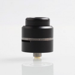 Layercake CSMNT V2 Style RDA Rebuildable Dripping Atomizer w/ BF Pin - Black, Aluminum + Stainless Steel, 24mm Diameter