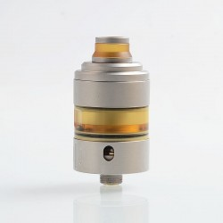 Coppervape Hussar Project X Style RTA Rebuildable Tank Atomizer - Grey, 316 Stainless Steel + PEI, 2ml, 22mm Diameter