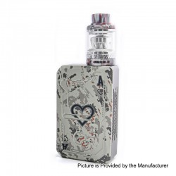 Authentic Tesla Teslacigs Poker 218W TC VW Box Mod + Resin Tank Kit - White, 7~218W, 2 x 18650, 0.18 Ohm / 0.15 Ohm, 6ml