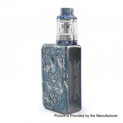 Authentic Tesla Teslacigs Poker 218W TC VW Box Mod + Tallica Mini Tank Kit - Blue, 7~218W, 2 x 18650, 0.18 Ohm, 6ml