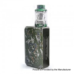 Authentic Tesla Teslacigs Poker 218W TC VW Box Mod + Tallica Mini Tank Kit - Green, 7~218W, 2 x 18650, 0.18 Ohm, 6ml