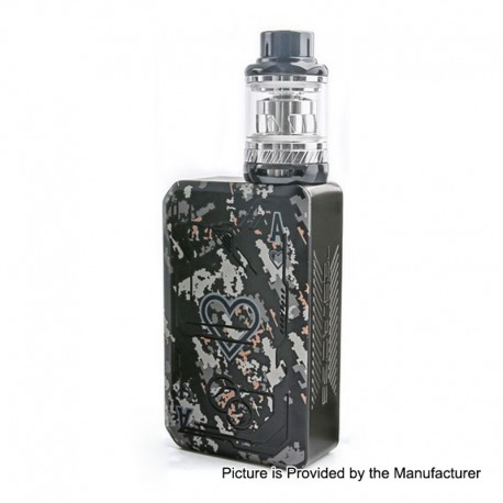 Authentic Tesla Teslacigs Poker 218W TC VW Box Mod + Tallica Mini Tank Kit - Black, 7~218W, 2 x 18650, 0.18 Ohm, 6ml