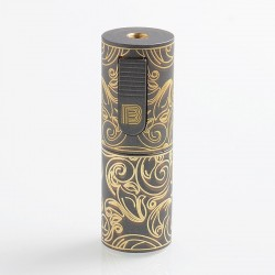 Vapeasy Mini B MiniB Style Mechanical Tube Mod Limited Edition - Gun Metal, Brass, 1 x 18650
