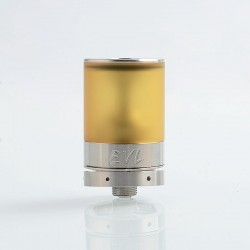 EVL Reaper V3 Style MTL RTA Rebuildable Tank Atomizer - Silver, 316 Stainless Steel + PEI, 2ml, 22mm Diameter