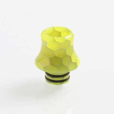510 Replacement Drip Tip for RDA / RTA / Sub Ohm Tank Atomizer - Yellow, Resin, 18.8mm, Glow-in-the-Dark