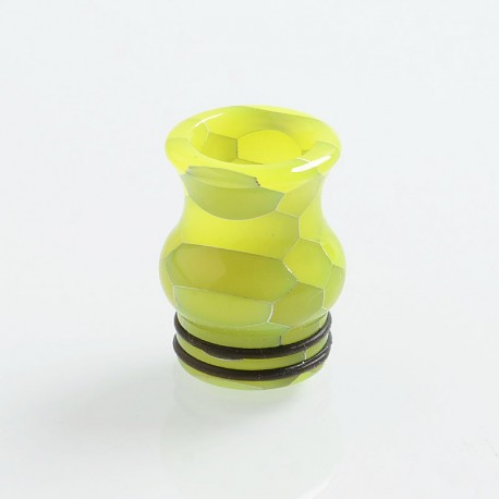 810 Replacement Drip Tip for TFV8 / TFV12 Tank / Goon / Kennedy / Reload RDA - Yellow, Resin, 20mm, Glow-in-the-Dark