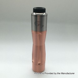 Get Low Mods GLM V3 Style Hybrid Mechanical Tube Mod + RDA Kit - Copper + Silver, Copper + SS, 1 x 18650