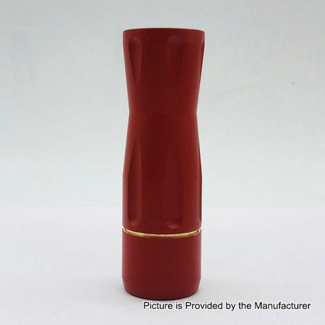 Get Low Mods GLM V3 Style Hybrid Mechanical Tube Mod - Red, Brass, 1 x 18650