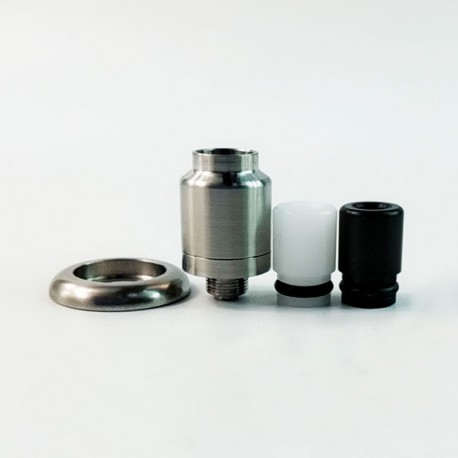 Kindbright Speed Style RDA Rebuildable Dripping Atomizer w/ BF Pin - Silver, 316 Stainless Steel, 14mm Diameter