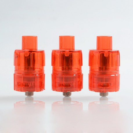 Authentic Tesla One Disposable Sub Ohm Tank Clearomizer - Red, Plastic, 3ml, 0.2 Ohm, 23.5mm Diameter (3 PCS)