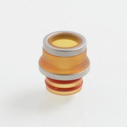 Coppervape Replacement 510 Drip Tip for Hussar Project X Style RTA - Yellow + Grey, PEI + 316 Stainless Steel