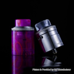 Authentic One Top Onetopvape Gemini RDTA Rebuildable Dripping Tank Atomizer - Purple, Stainless Steel + PC, 26.5mm Diameter