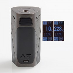 Authentic Rincoe Manto X 228W TC VW Variable Wattage Box Mod - Grey, Zinc Alloy, 1~228W, 2 x 18650